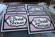 Purple Cricut invitations
