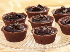 Mint Truffle Cups mints, bees, chocolates, cups, truffl cup, intens chocol, mint flavor, truffles, mint truffl