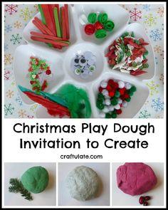 Christmas Play Dough – Invitation to Create from Craftulate christma play, playdough