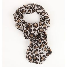 With Love From CA Leopard Infinite Scarf ($15) found on Polyvore