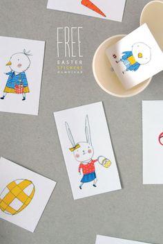 Mermag | DIY Printable Easter Stickers