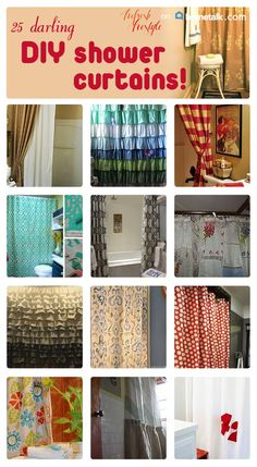 Fantastic shower curtains you can make on your own!