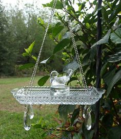 Relish tray punch cup bird feeder