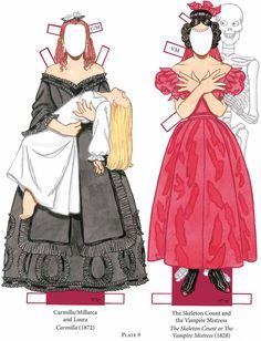 Vampire Paper Dolls