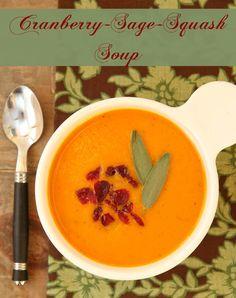 Cranberry, Sage and Squash Soup