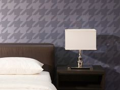 Houndstooth wall stencil. <3