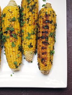 Cilantro Lime Grilled Corn