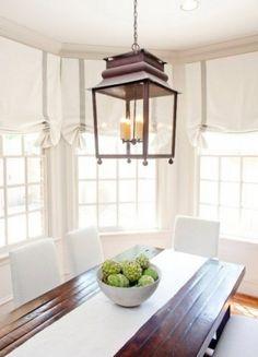 lantern over breakfast table