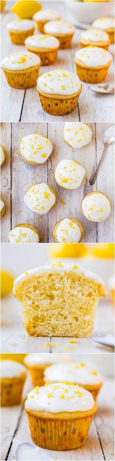 lemon cupcakes w/ lemon cream cheese frosting