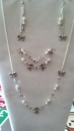 Swarovski Crystal and Pearl Wedding Set $45 via @Shopseen