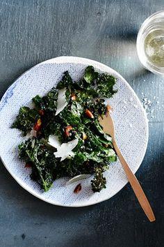 Kale Salad With Toasted Almonds and Pecorino Romano