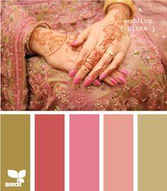 color combination...wedding pinks