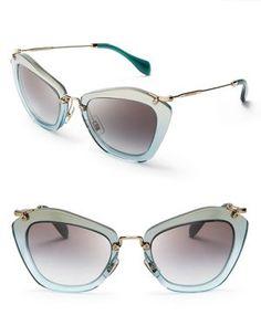 Miu Miu Geometric Glitter Sunglasses by: Miu Miu