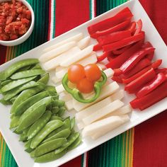Recreate the Mexican flag with vegetables for Cinco de Mayo