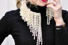 DIY Asymmetrical Pearls Inspired by Dior Beaded Necklaces S/S 2014