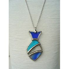 Stained glass necklace.
