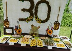 "Photo 8 of 15: Sunflowers and Wine / Birthday ""Surprise and Sunflower 30th Birthday Party!!"" | Catch My Party"