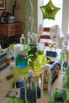 Mad Science Party - love the lab coats for each guest! #kidsparty #partyidea