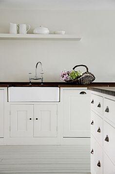 Rustic White kitchens