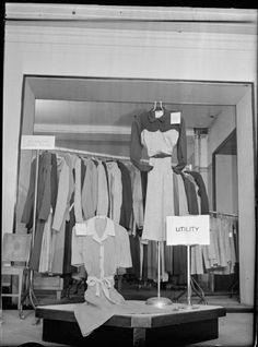 Utility clothing, shop display 1942, UK