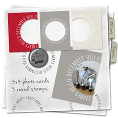 Free 3x4 Photo Cards and Stamps for Project Life from Serendipity Design