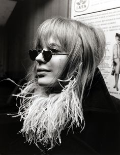 Marianne Faithfull travelling to San Remo, 1967