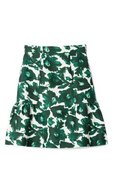 Volta Cotton Sateen Frill Skirt by Mother of Pearl for Preorder on Moda Operandi