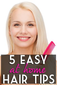 5 Quick & Easy At Home Hair Tips! Save $100's at the salon! #beauty #hair #hairtips Beauty tips!
