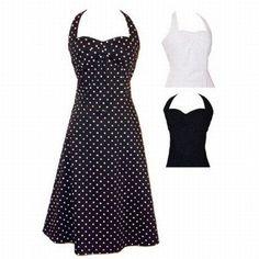 Black and white polka dot dress/skirt