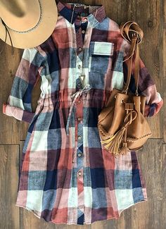 "New babe in! Only $24.99 with free shipping&easy return! Look! This shirt dress structured with button down design&waist drawstring! It will be your fave for daily casual/sassy look! Search more at <a href=""http://Cupshe.com"" rel=""nofollow"" target=""_blank"">Cupshe.com</a> Only!"