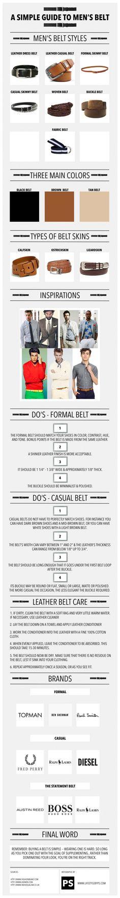 A Simple, Helpful Guide to Men's Belts! #UseWearWant
