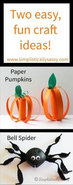 2 easy Halloween crafts for kids