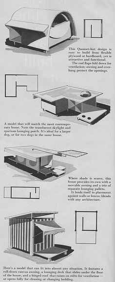 Four more amazing mid century modern dog house