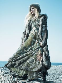 "Sasha Pivovarova in ""Call of the Wild"" by Mikael Jansson for Vogue,"