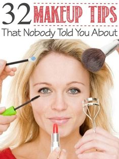 The best makeup tips and tricks, like eye drops in mascara extends life of product.