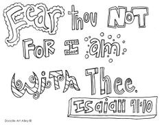fearthounot.jpg Doodle colouring sheets, Bible verse