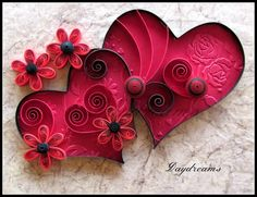 DAYDREAMS: Quilled valentine. #handmade #quilling #art #paper #card