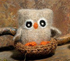 Adopt a Baby Owl  Plush Angora Toy Eco Friendly felt by woolcrazy, $20.00