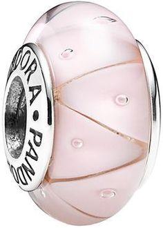 $37 Charm de Pandora - rosa - de Cristal de Murano