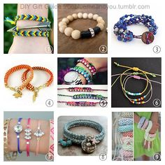 2013 True Blue Me & You DIY Gift Guide: Bracelets Part 3. #diy #crafts #diy_bracelets #jewelry #diy_jewelry #tutorial