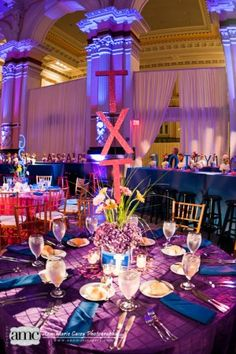 "Bat Mitzvah centerpieces for a ""texting"" themed Bat Mitzvah."
