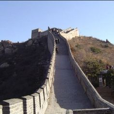 Walking up the Great #Wall of #China - get there before your knees give way. Its awesome. #Beijing