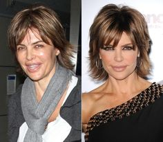 hair down, lisa rinna, celebr galleri, real face, the real, reality check, beauti, celeb thing, stars without makeup