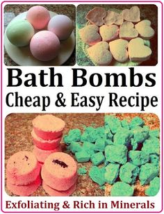 DIY Bath Bombs / Fizzies Recipe, How to Make SPA Products CHEAP, EASY & QUICK! Homemade Gift Idea for Valentine's Day, Birthday, Mother's Day or Christmas.