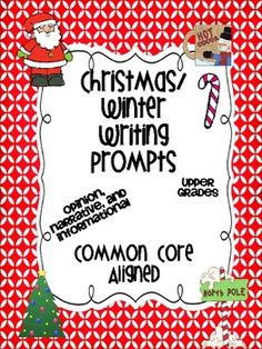 35 writing prompts aligned to Common Core for the Upper Grades. Narrative, Opinion, and Informational!