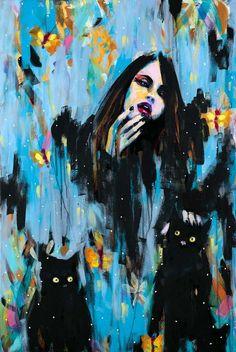 Cat Art...=^.^=...♥... By Artist Unknown...