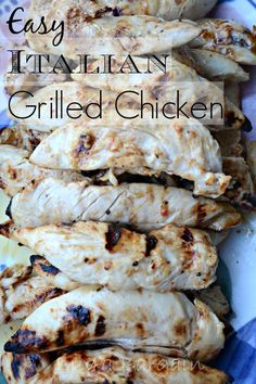 Easy Italian Grilled Chicken - Everyone absolutely loves this clean eating recipe.  LuvaBargain.com
