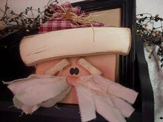 Wood Blockhead Santa, Christmas Crafts