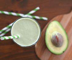 low-carb avocado green tea power shake w/ matcha green tea powder, avocado, greek yogurt, vanilla whey protein powder, erythritol & unsweetened almond milk