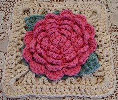 Ravelry: Vintage Rose Afghan Square pattern by Jessica Elisabeth  and also the granny board of Sophie : http://pinterest.com/sophieetpuces/granny-square/